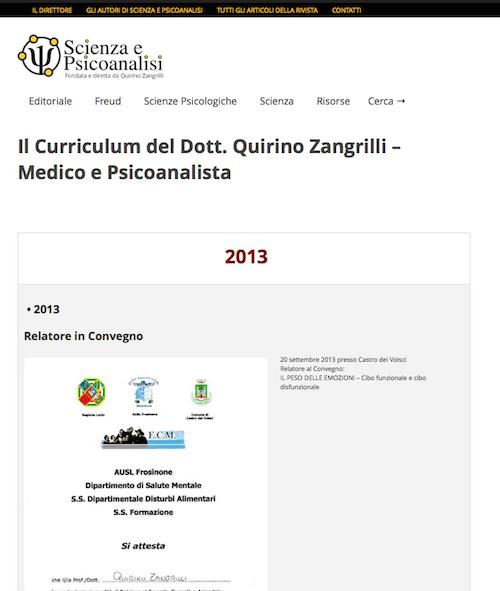 Curriculum Dott. Quirino Zangrilli