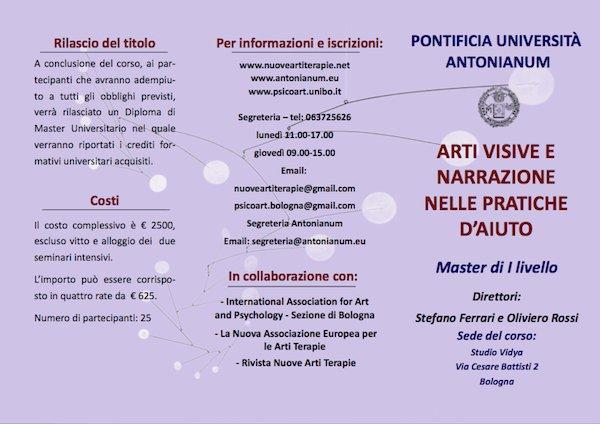 Master ARTI VISIVE E NARRAZIONE NELLE PRATICHE D'AIUTO