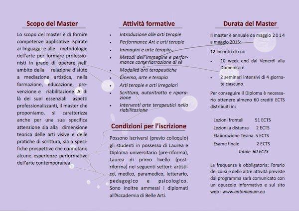 Master ARTI VISIVE E NARRAZIONE NELLE PRATICHE D'AIUTO2