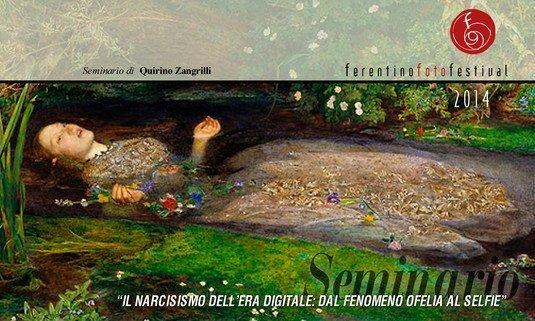 """Il Narcisismo dell'era digitale: dal """"fenomeno Ofelia"""" al selfie e l'utilizzo della fotografia in psicoterapia"""