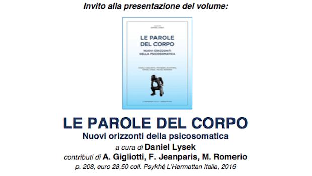 LE PAROLE DEL CORPO – Presentazione del Libro a cura di D. Lysek